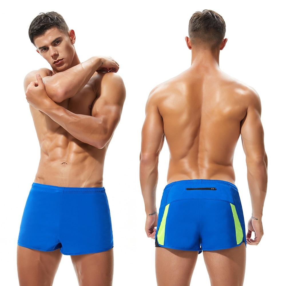 Polyester Gym Shorts Men Marathon Running Shorts  2 In 1 Fitness Crossfit Shorts Man Loose Cycling Short Black Liner M XXL Size