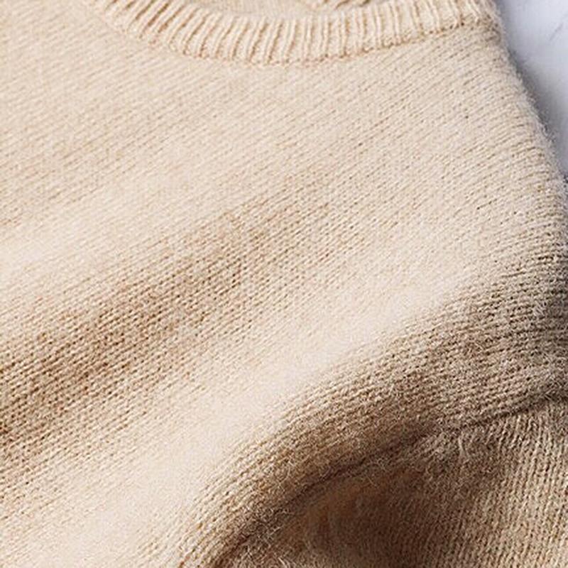Manica Pullover Oc540 Modo Donne Nappa Collare Nuova 2019 Di Delle Del Marea Maglione Lunga Khaki Casual Rotondo Shengpalae Splice Primavera CqRat