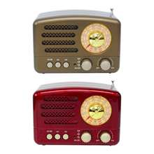 130x90x70mm Red/Coffee Portable Vintage Retro Radio AM FM SW Speaker TF Card Slot USB Charging Home Travel Mini Radio 2019 New