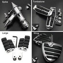 Large Front Foot Pegs fit For 2002-2008 Honda VTX 1800C 1800F / 2004-2009 VTX1300C footpeg Rest Pedal Billet Rubber Motorcycle
