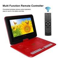 13.8 1800mAh Game Remote Control Portable Home Car DVD Player 270 D Screen USB SD Card TV Program Search Function Anti shock