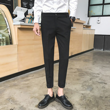 Men's Trousers 2019 Spring New Loose Versatile Slim Feet Pants Thin Section Nine Pants Personality Youth Casual Men's Clothing цена