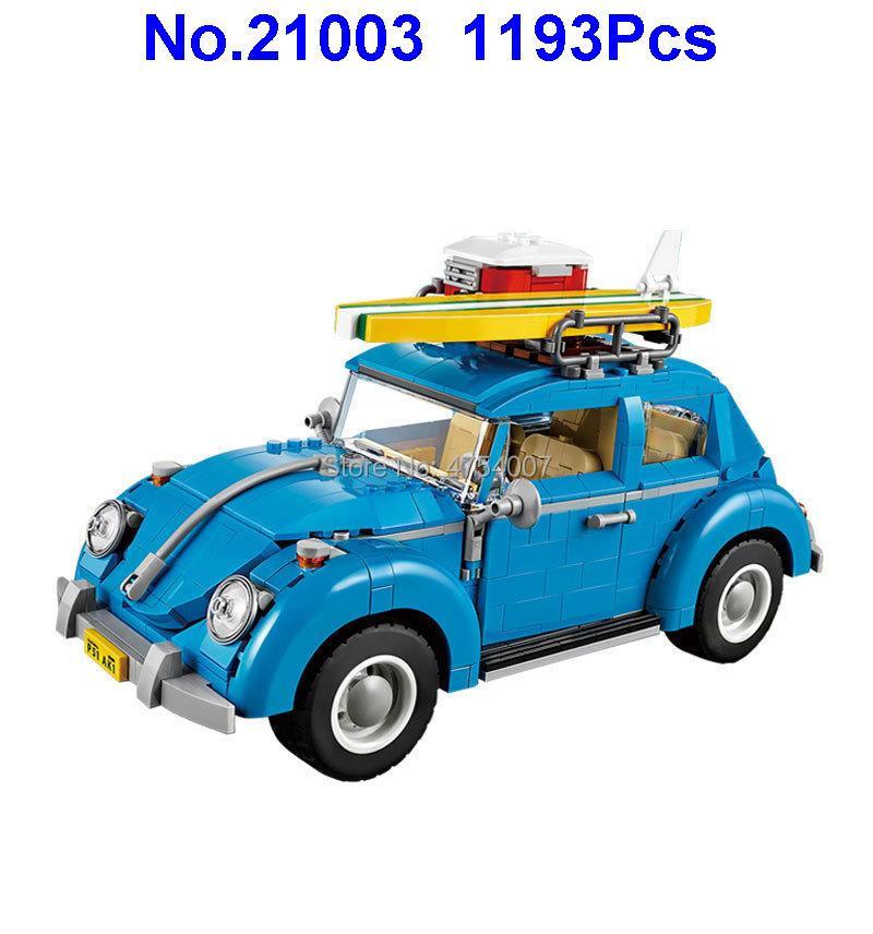1193 Pcs Technic Blauwe Auto Bouwstenen Compatibel 10252 Speelgoed Zacht En Antislippery