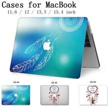 노트북 맥북 노트북 케이스 슬리브 새로운 맥북 에어 프로 레티 나 11 12 13.3 15.4 인치 스크린 프로텍터 키보드 코브
