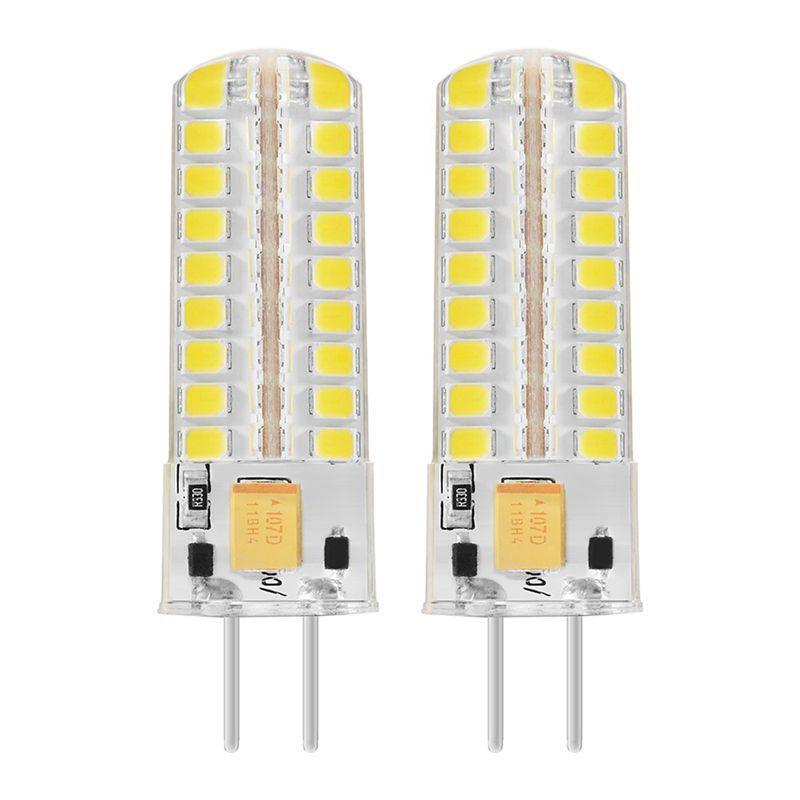 2x 6.5W GY6.35 LED Bulbs 72 2835 SMD LED 320lm 50W Halogen Lamps Equivalent Dimmable Pure White 6000K 360 Degree Beam Angle Si