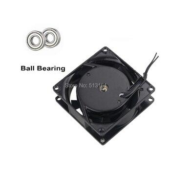 5pcs/lot 8cm AC 220v 240v 0.1a 2 wire Cooling Fan 8025 Ball Bearing Motor 8025s 1pcs dual ball 60mm 6cm 60x60x25mm ec brushless fan ac 110v 115v 120v 220v 240v axial fan 6025 industry cooler