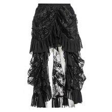 a821029ac4 Las mujeres negro Steampunk victoriana de Punk gótico bullicio de encaje negro  faldas largas