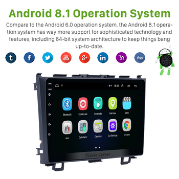 Seicane Android 9.0 9 2Din GPS Car Radio For Honda CRV 2006 2007 2008 2009 2010 2011 Stereo Multimedia Player Head Unit image