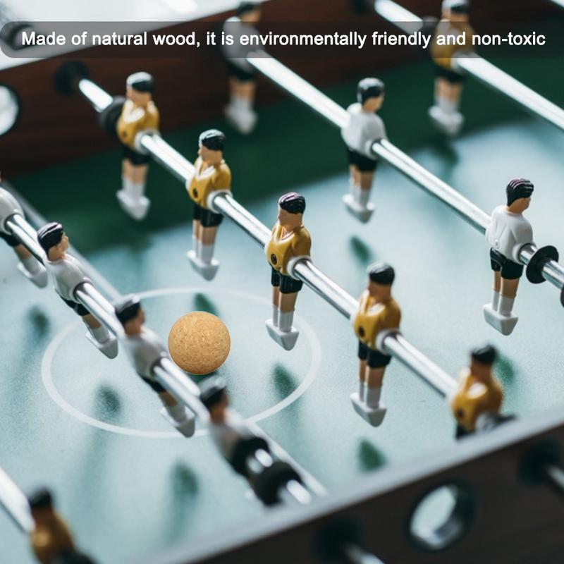 1pc 6pcs 12pcs 36mm Cork Solid Wood Foosball Table Soccer Ball Football Baby Foot Fussball Accessories Desktop Soccer Toys in Soccer Tables from Sports Entertainment
