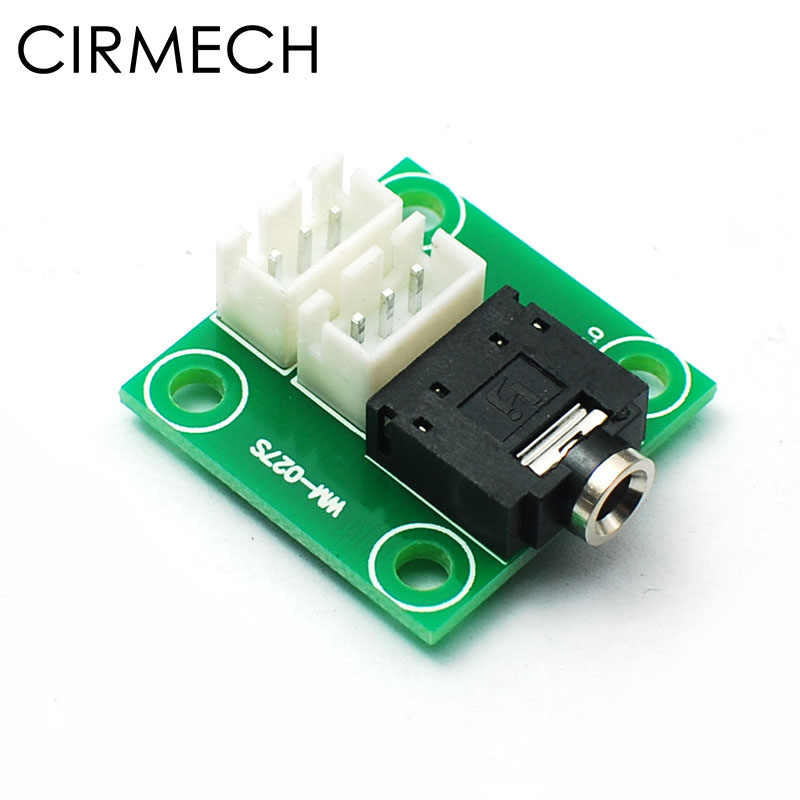 CIRMECH earphone Jack 3.5mm Audio Socket PCB Adapter naar 2.54mm 3pin Positie