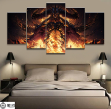 5 Panel Painting Diablo Immortal Game Canvas Printed Painting Living Room Wall Art Decor Picture Artworks Poster Canvas Wholesal майка print bar immortal art
