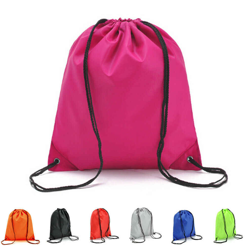 2019 High Quality Nylon Drawstring Bag Beach Bag Women Men Travel Storage Package Teenagers Backpack Femme 7 Colors