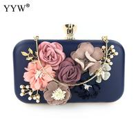 Royal Blue Crystal Evening Bags And Clutches With Flowers For Womens Party Wedding Prom 2019 Day Clutches Purse Wedding Bag