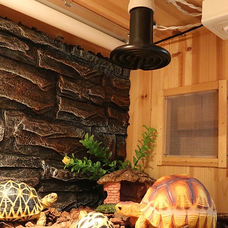 Выращивание Керамика изоляции лампа Керамика обогревающая лампа несветящаяся тепла 25/50/75/100W сохранения тепла для броши в виде ящерицы для черепах, змей