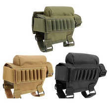 VIM Outdoor Tactical Buttstock Cheek Rest Ammo Portable Pouch Shotgun Rifle Stock Shell Combat Hunting Gear hunting gun accessories adjustable rifle shotgun tactical buttstock cheek rest shooting pad ammo case cartridges holder pouch