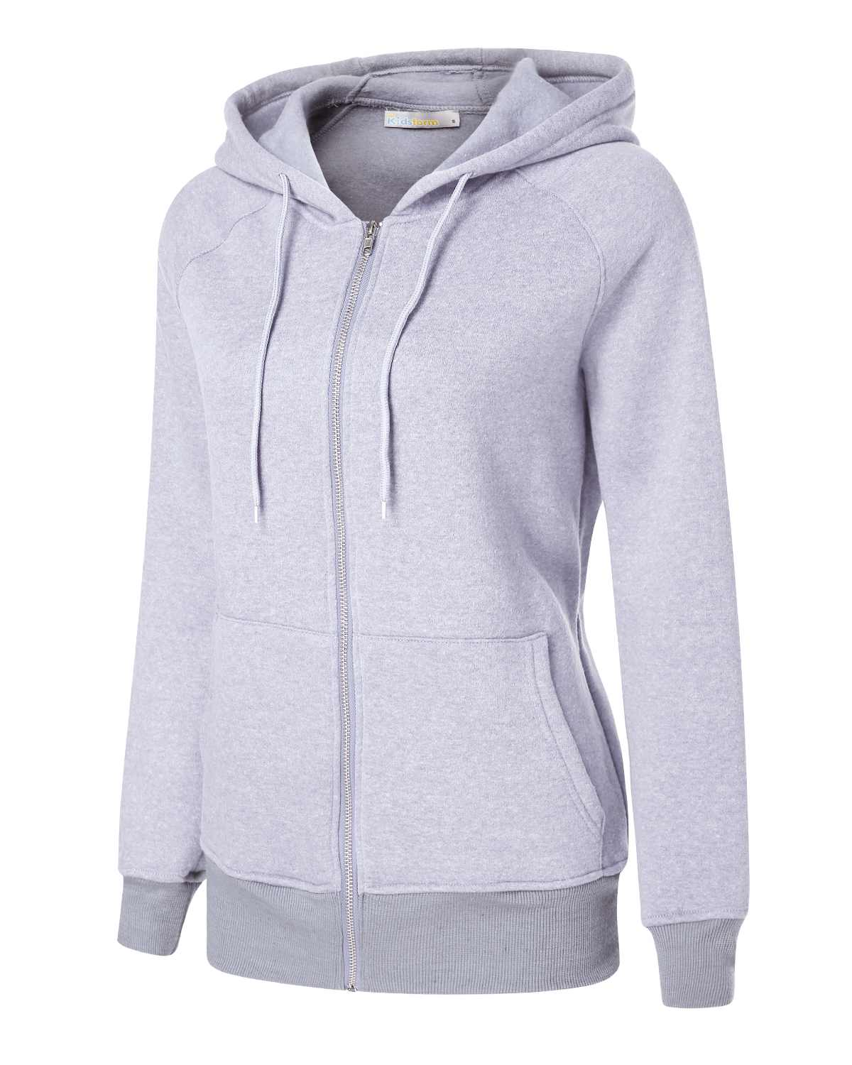 Women Warm Hoodies Sweatshirt Casual Loose Long Sleeve Hooded Sweatshirt Overcoat Solid Color Zipper Design Hoodies Plus Size