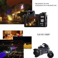 2019 Новое поступление D7200 цифровая камера 33MP Авто фокус Настольный Штатив камера с 3 телефото широкоугольные линзы 24X оптический зум