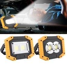 Portable High Bright COB Spotlight USB Charging LED Warning Lamp for Outdoor Camping Emergency small flashlight цена