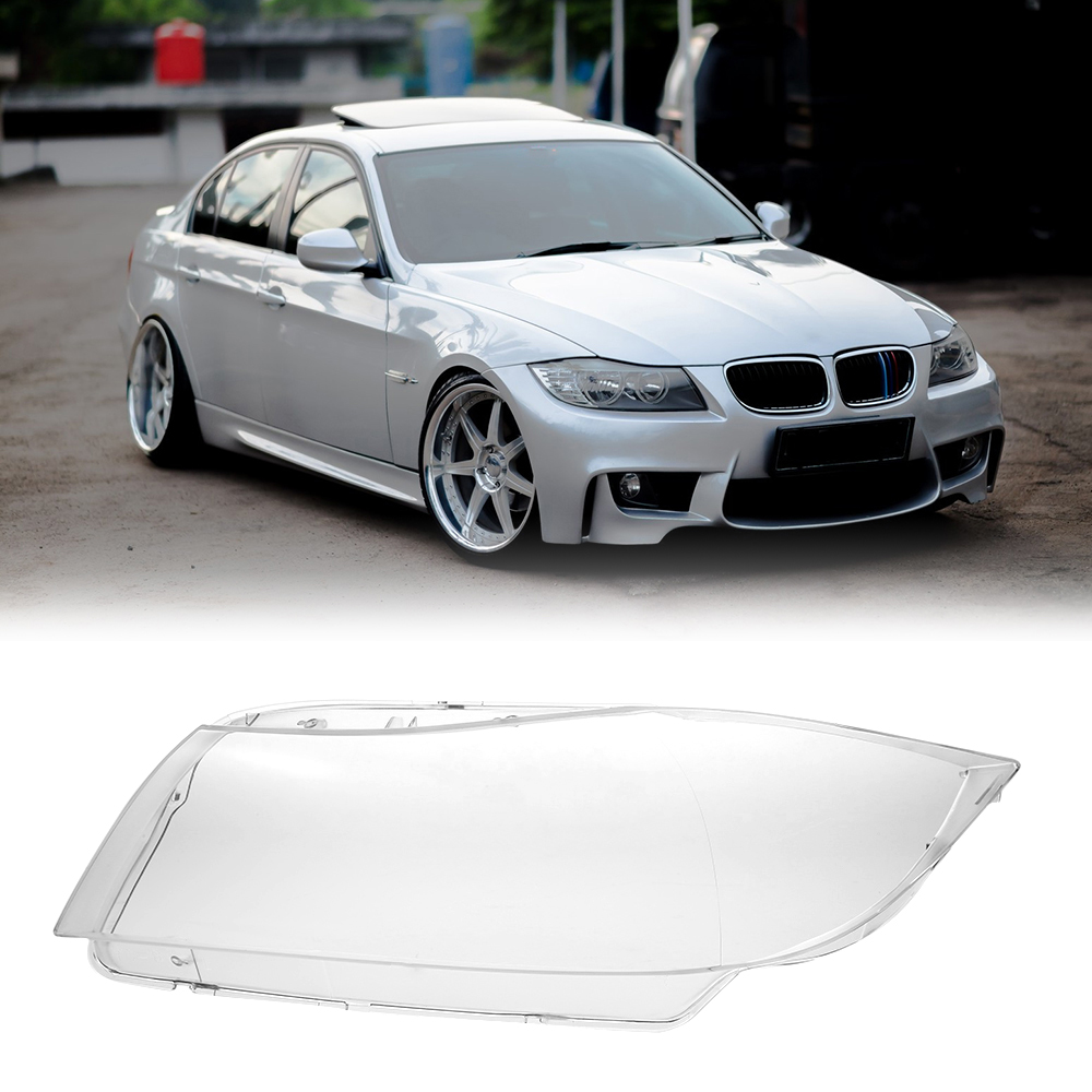 Car Front Headlight Head Lamp Clear Lens Cover 1PCS Front Headlamp Shell for BMW E90 2005 2012 Right/Left Car Accessories