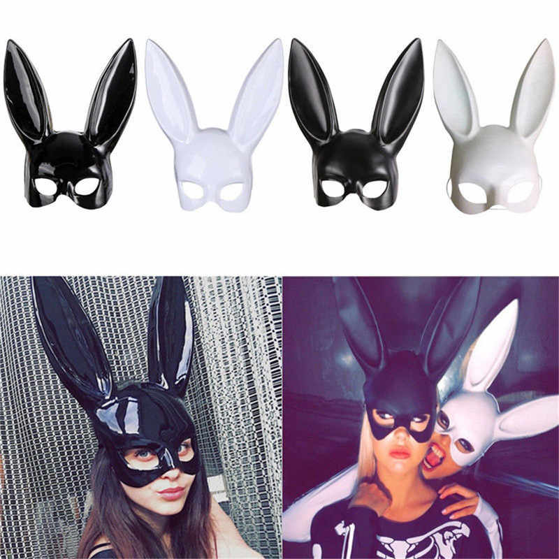 1Pc Halloween Laides Bunny Mask Party Bar Nightclub Costume Rabbit Ears Mask