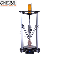 Newest 3d printer high precision laser engraving kossel delta 3d printer diy kit with 3.5 touch screen smart leveling home use