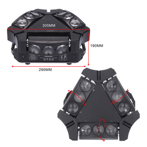 Image 4 - 파티 디스코 ktv 90 w 9led rgbw 풀 컬러 dmx512 사운드 컨트롤 16/48 채널 미니 삼각형 스파이더 램프 빔 무대 조명 클럽