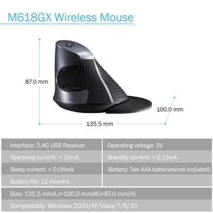 Image 5 - Delux M618GX souris sans fil verticale ergonomique 6 boutons 1600DPI souris optiques avec 3 couleurs étui en caoutchouc de silicone pour ordinateur portable