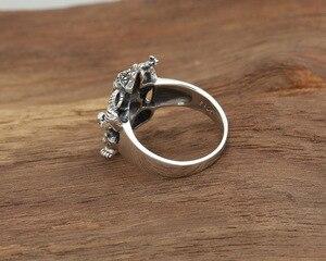 Image 4 - Handgemaakte 925 Zilveren Ring Olifant Fortuin Boeddha Vinger Ring Vingtage Sterling Zilveren Geluk Ring Thailand Ganesh Ring