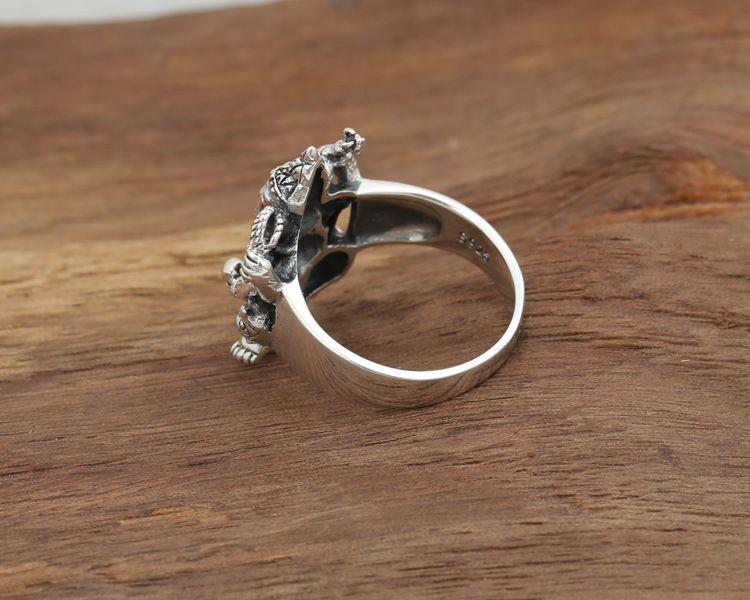 Image 4 - Handmade 925 silver ring elephant fortune buddha finger ring  vingtage sterling silver good luck ring Thailand Ganesh ringfinger  ringjewelry rings925 silver ring