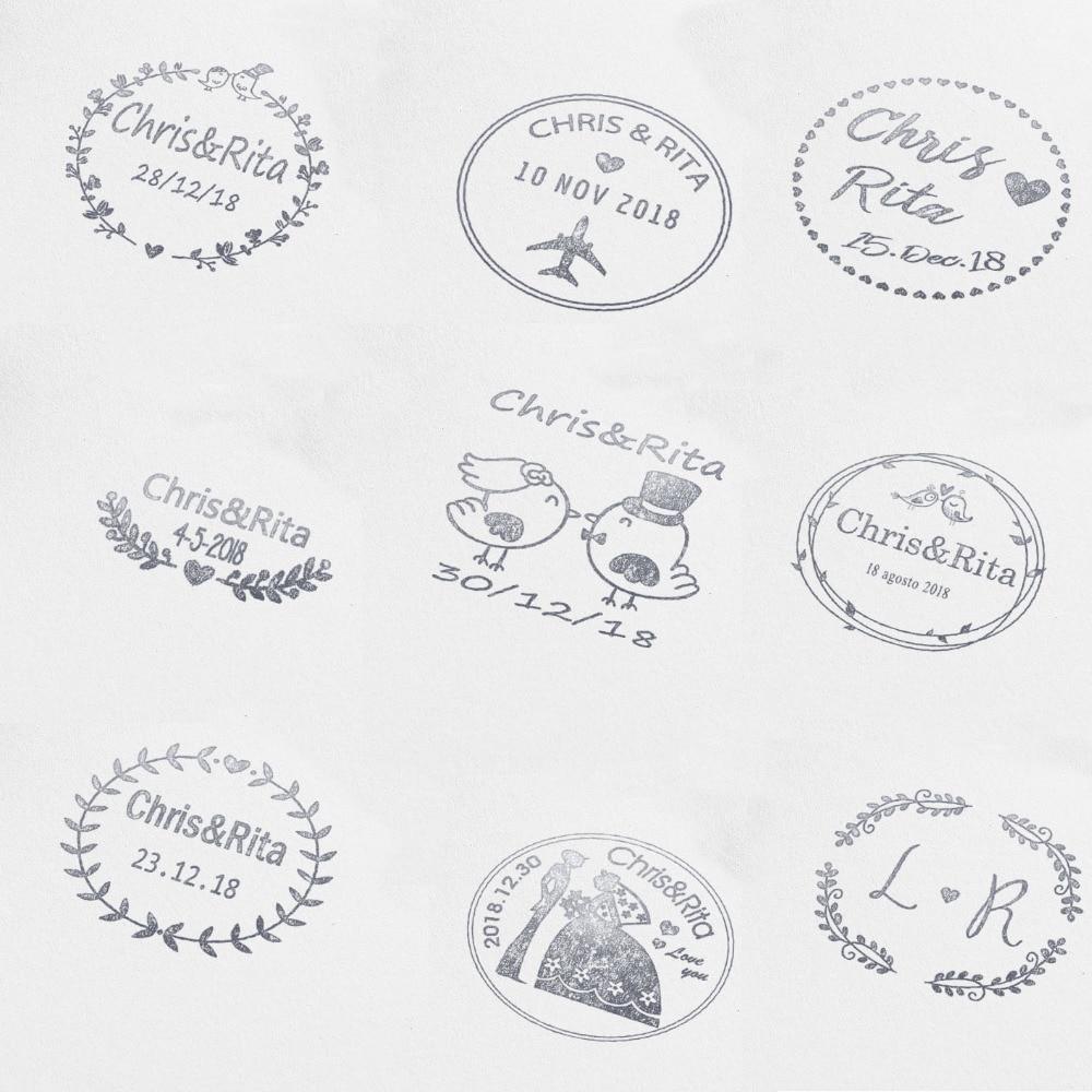 40mm Personalized Custom Self Inking wedding stamp