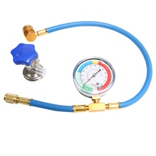 Air Conditioning R134A R12 R22 Recharge Measuring Hose Gauge Valve Refrigerant Pipe 1/4 RU Warehouse