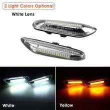 Pair Car LED Side Marker Lights Repeater Turn Signal Indicator Lamp for BMW E46 E60 E82 E88 E90 E92 E93
