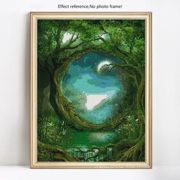 HUACAN 5D DIY Diamond Painting Big Tree Old Man Art Full Dill Square Rhinestone Diamond
