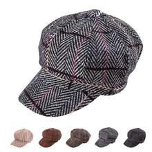 De las mujeres de moda dama boina vendedor de invierno cálido Octágono  sombrero(China) 6f73895d376