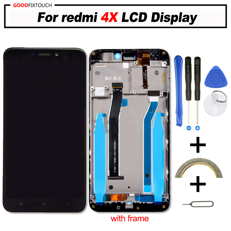 Original For Xiaomi Redmi 4x LCD Display Digitizer With Touch Screen Panel Assembly Replacement Parts For Redmi4x LCD 5.0