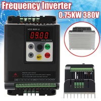 0.75KW 380V Variable Frequency Inverter Built in PLC 3 Phase in 3 Phase Out Frequency Converter
