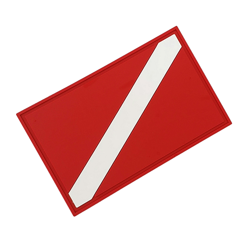 Durable Red White Pvc Safety Scuba Diving Diver Down Flag Patch Badge For Underwater Dive Backpack Gear Bag Jacket Vest