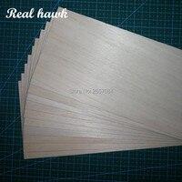 Balsa Wood Sheet ply 310mm long 100mm wide mix of 0.75/1/1.5/2/2.5/3/4/5/6/7/8/9/10mm thickness each 1 piece model DIY