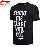 Li Ning Men BAD FIVE Basketball Jersey Breathable 100% Cotton Loose Fit Tops LiNing Comfort Sports T Shirts Tee AHSN059 MTS2808