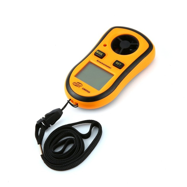 Real Digital Tachometer Handheld Air Wind Speed Scale Gauge Meter Anemometer Thermometer