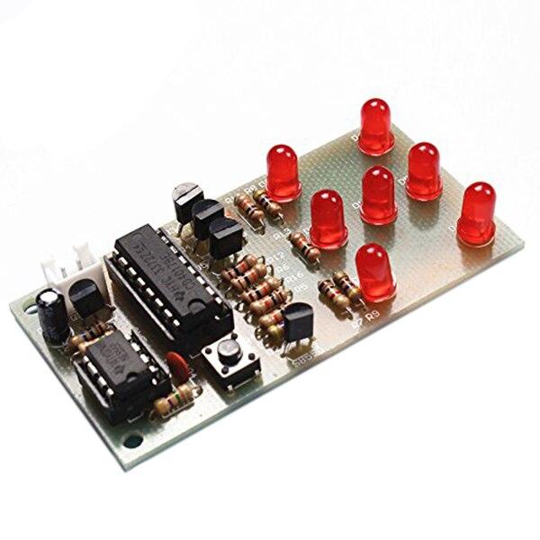Electronic Dice NE555 CD4017 DIY Kit 5mm Red LEDs 4.5-5V ICSK057A Electronic Fun Kit