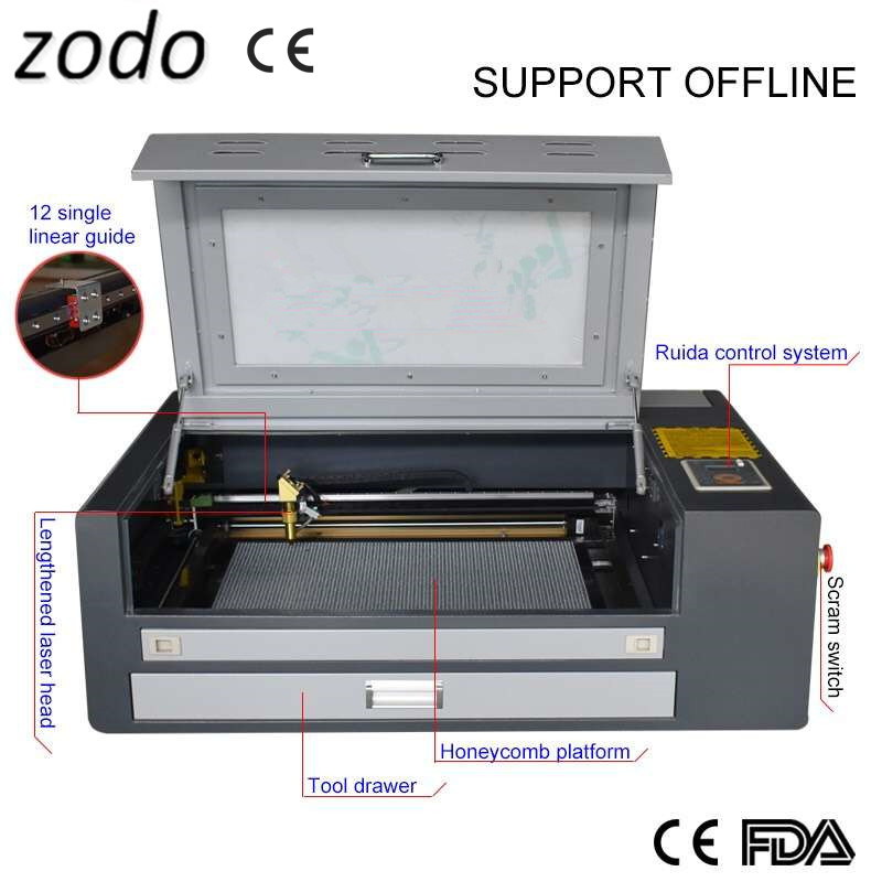 Craft or gift DIY machine <font><b>100W</b></font> 460 400*600mm <font><b>co2</b></font> laser engraving machine, <font><b>4060</b></font> 100wlaser cutting machine with Ruida control image