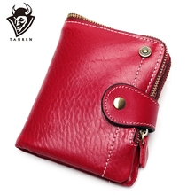 Genuine Leather Women Purse Coin Mini Wallet For Cowhide Female Card Holder Carteira Feminina Lady