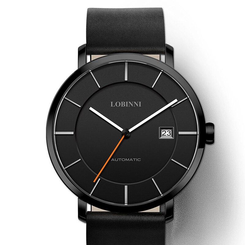 ff0a56cb2a8 LOBINNI Relógio Marca de luxo Homens Japão MIYOTA 9015 Movimento Mecânico  Automático Relógios dos homens Relógio