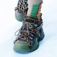 Роскошные женские кроссовки из натуральной кожи и замши на платформе со шнуровкой Большие размеры