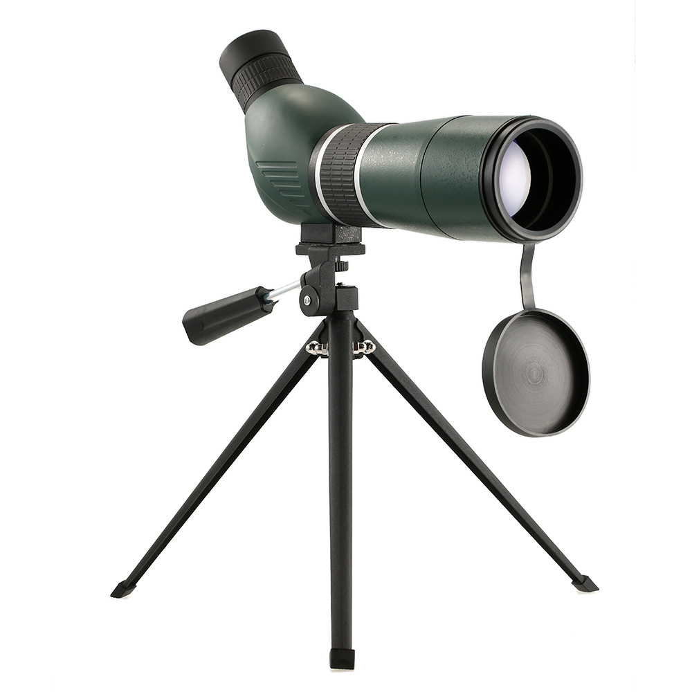 20-60x60 Hunting Monocular Spotting Scope Telescope Portable Travel Scope Monocular Telescope Birdwatch with Tripod Carry Case