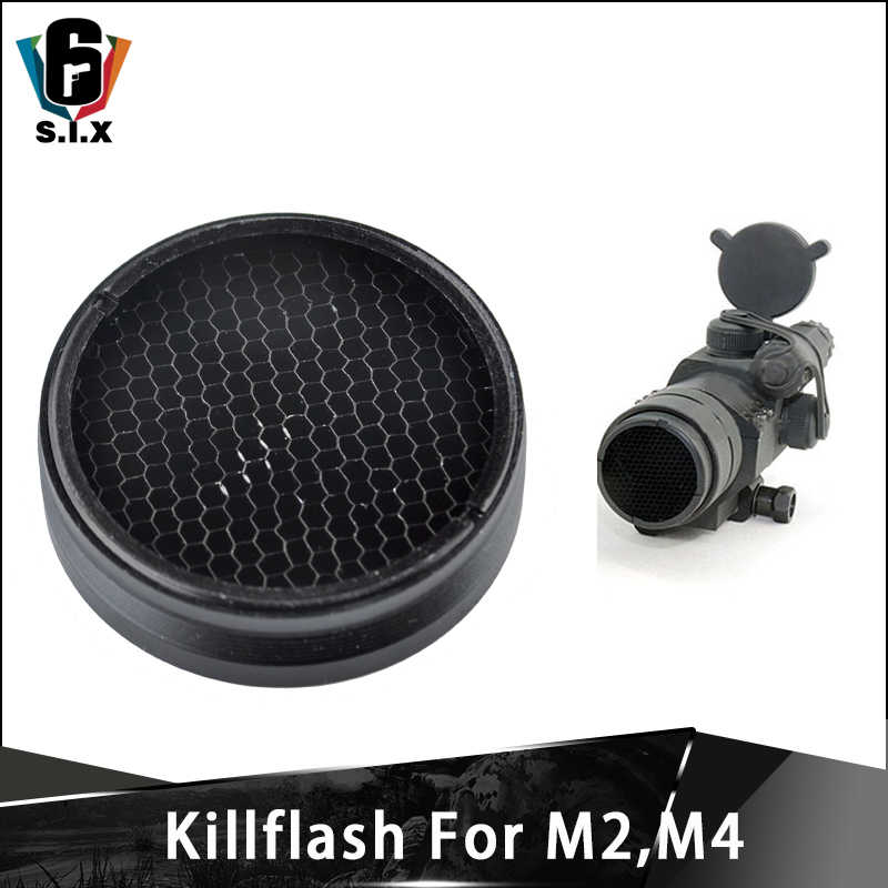 Tactical Softair Killflash para M2 M4 serie de puntos rojos Kill Flash Fit tipo militar 30mm rojo verde Dot Sight Scope Protector cubierta