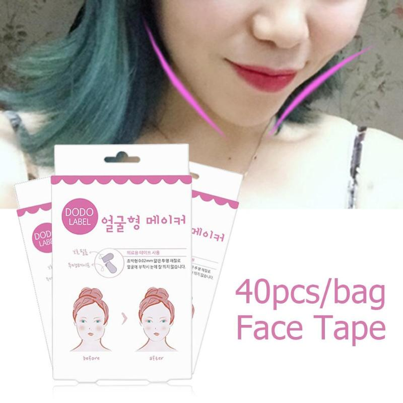40pcs/Set Face Lift Stickers Makeup Face Chin Lift Tools Thin Face-lifting Invisible Medical Tape Wrinkle Removal Patch