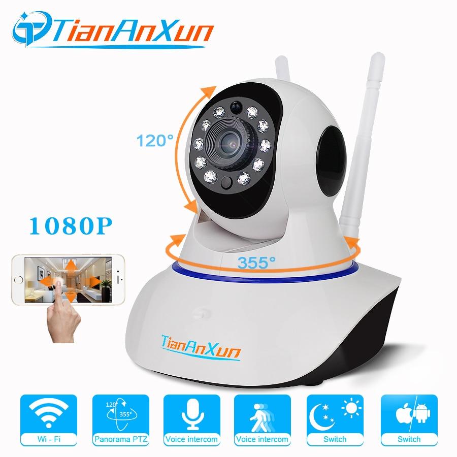 Tiananxun wifi camera 1080P Home Security  Wireless IP cameras Wi-Fi CCTV Surveillance SD card Video Record Baby Monitor yoosee