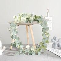 1,8 м искусственный эвкалипт листья искусственная Виноградная лоза ротанга веточка дома свадебная Декоративная гирлянда